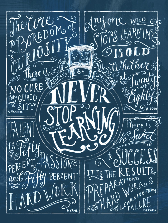 never-stop-learning-prints